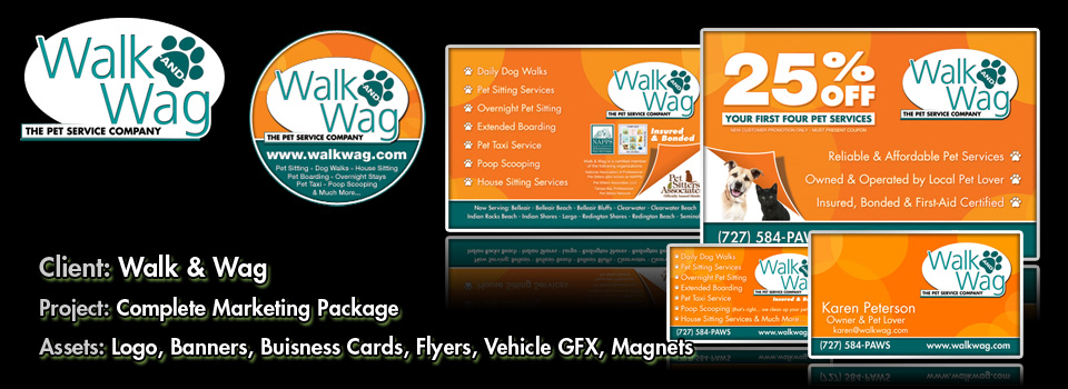 Walk & Wag - Print Production & Graphic Design by Melcro industries, LLC